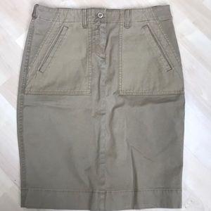 """J.Crew NWT🔥khaki """"city""""utility skirt size 4"""
